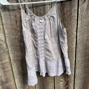 grey lacy aerie tank